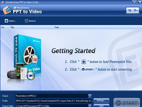 install and run it to convert PPT to 3GP video